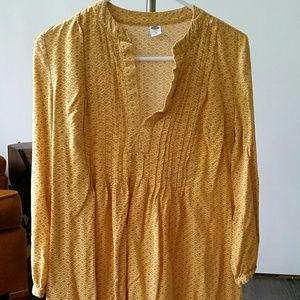 XS Old Navy yellow dress with 3/4 sleeves